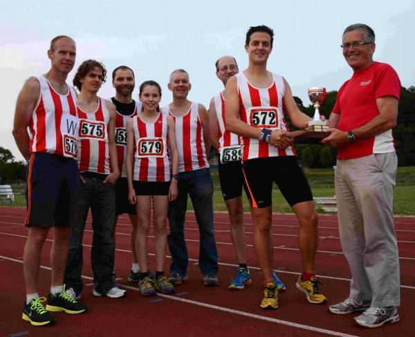 Romsey Advertiser: From left – Guy Brown, Rich Waldron, John Ward, Isabelle Bennett, Paul Johnson, John MacInnes, Jeremy Curtis and Richie Pearson