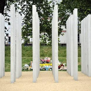 Romsey Advertiser: Messages were daubed on the July 7 memorial in London's Hyde Park