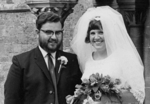 Denis Walsby pictured on his wedding day
