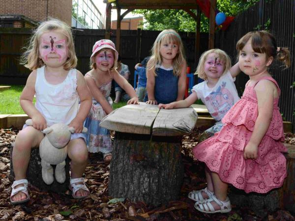 Children at Patchwork Day Nursery and Pre-School, based at Perins, celebrated the launch of their new garden