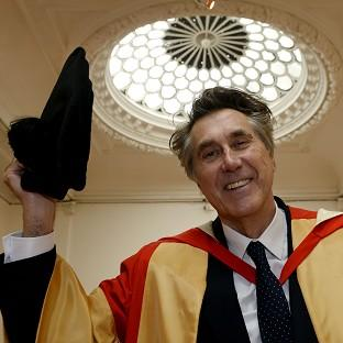 Bryan Ferry receives an honorary degree from Newcastle University