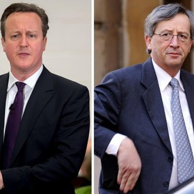 Romsey Advertiser: David Cameron (left) is said to have offended Luxembourg over his opposition to Jean-Claude Juncker