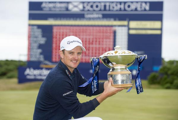 Justin Rose with the Scottish Open silverware today