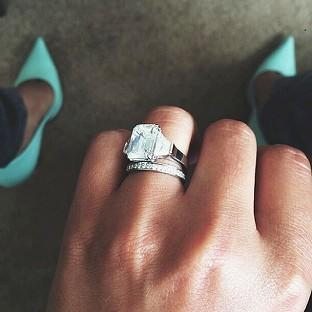 Romsey Advertiser: A picture from the Instagram account of Cheryl Cole showing her wedding ring