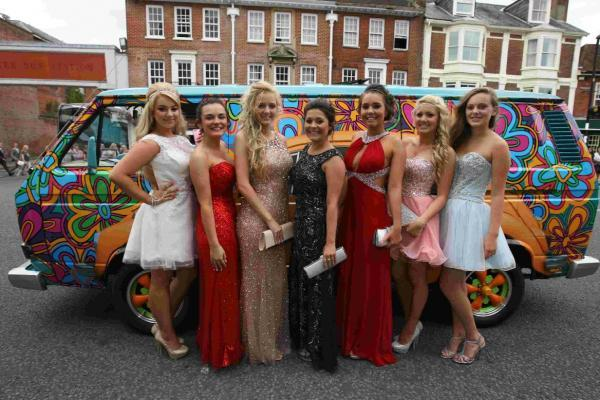 Colourful night at the prom