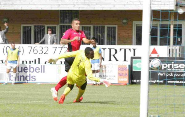Jai Reason scores Eastleigh's first Conference Premier goal