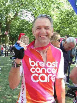 Winchester widower cycles 100 miles in memory of his wife