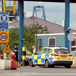 Two men have appeared in court in connection with the death of a man found in a container at Tilbury Docks