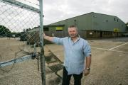 Adrian Willams outside the Nursling warehouse which he wants to turn into an indoor shopping village
