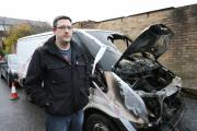 LIVELIHOOD: Andy Green and his van, which was set on fire