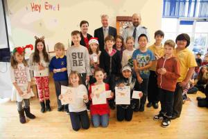 Pupils draw up council's no messing message...
