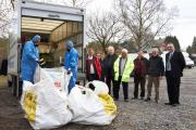 Asbestos is removed from Plaitford Village Hall car park