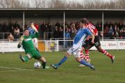 Eastleigh's Ben Strevens in action