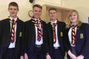 L to R: Thomas Porter, Nick Muscat, Stephen Cook and Jess Albon.
