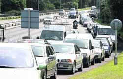 Romsey Advertiser: JAMS: A broken barrier in Richmond Hill's NCP car park caused traffic to clog the Wessex Way