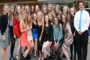 Peter Symonds' women's hockey team picked up team, manager and sportswoman of the year