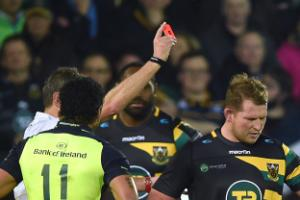 Jim Mallinder offers no consolation to Dylan Hartley after red card
