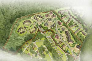 Artist's impression of the Ampfield development