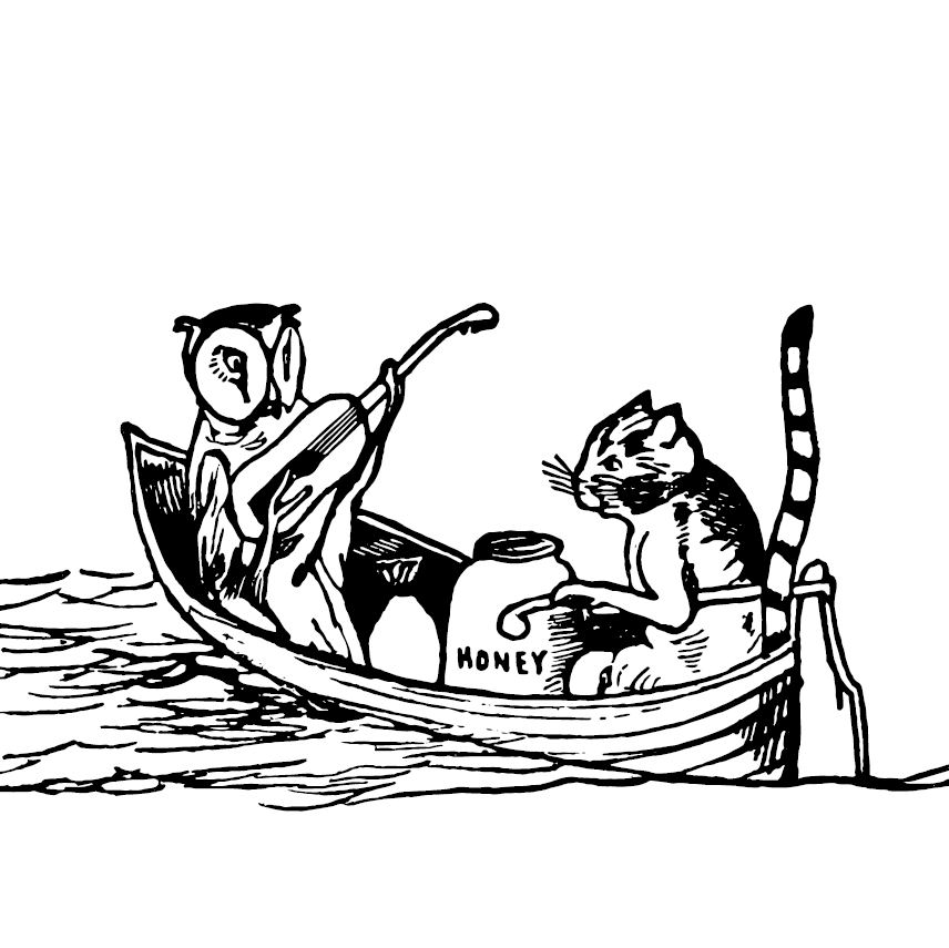 An Owl, a Cat and a Pea-Green Boat