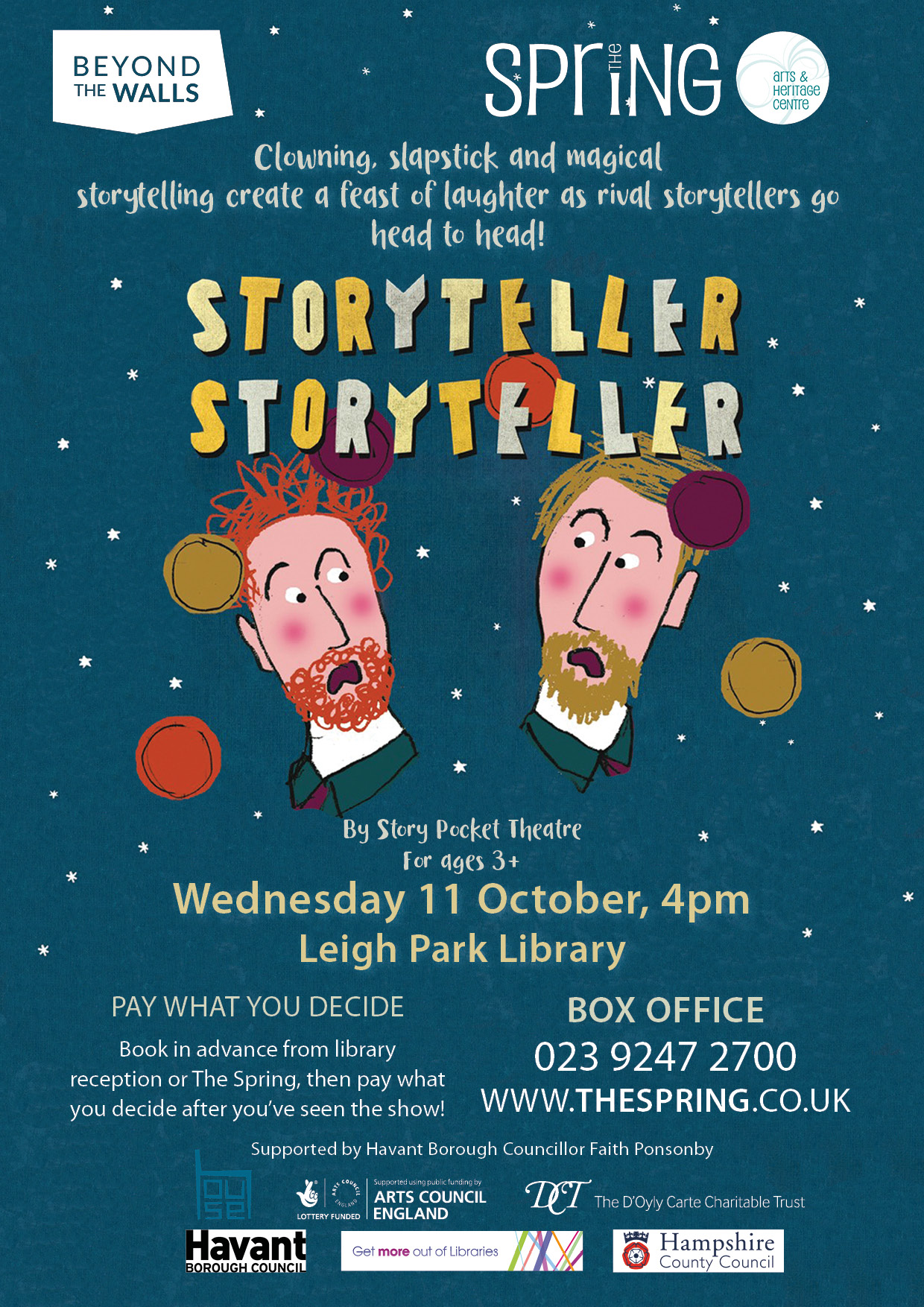 Storyteller, Storyteller at Leigh Park Library