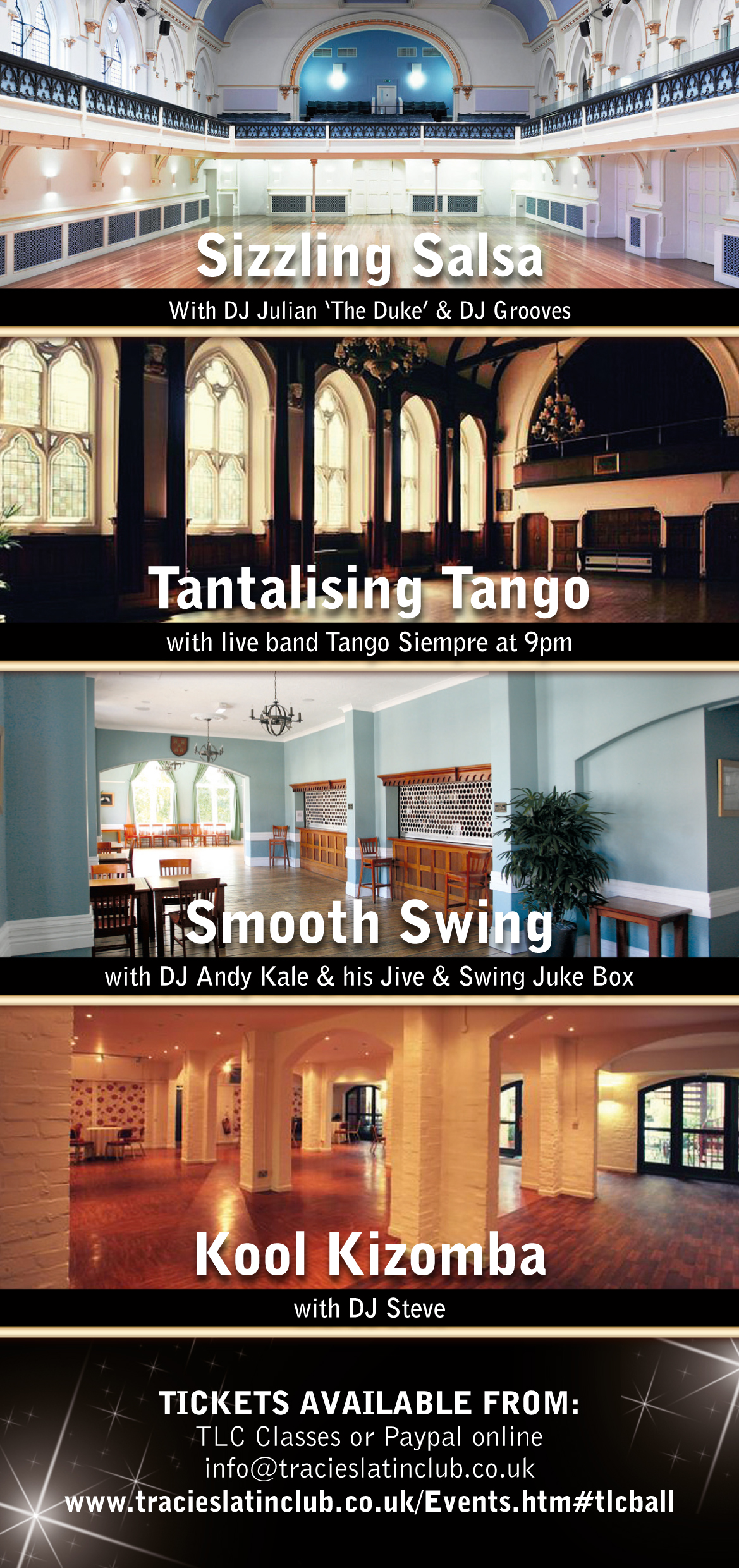 TLC Salsa, Swing, Tango and Kizomba ball