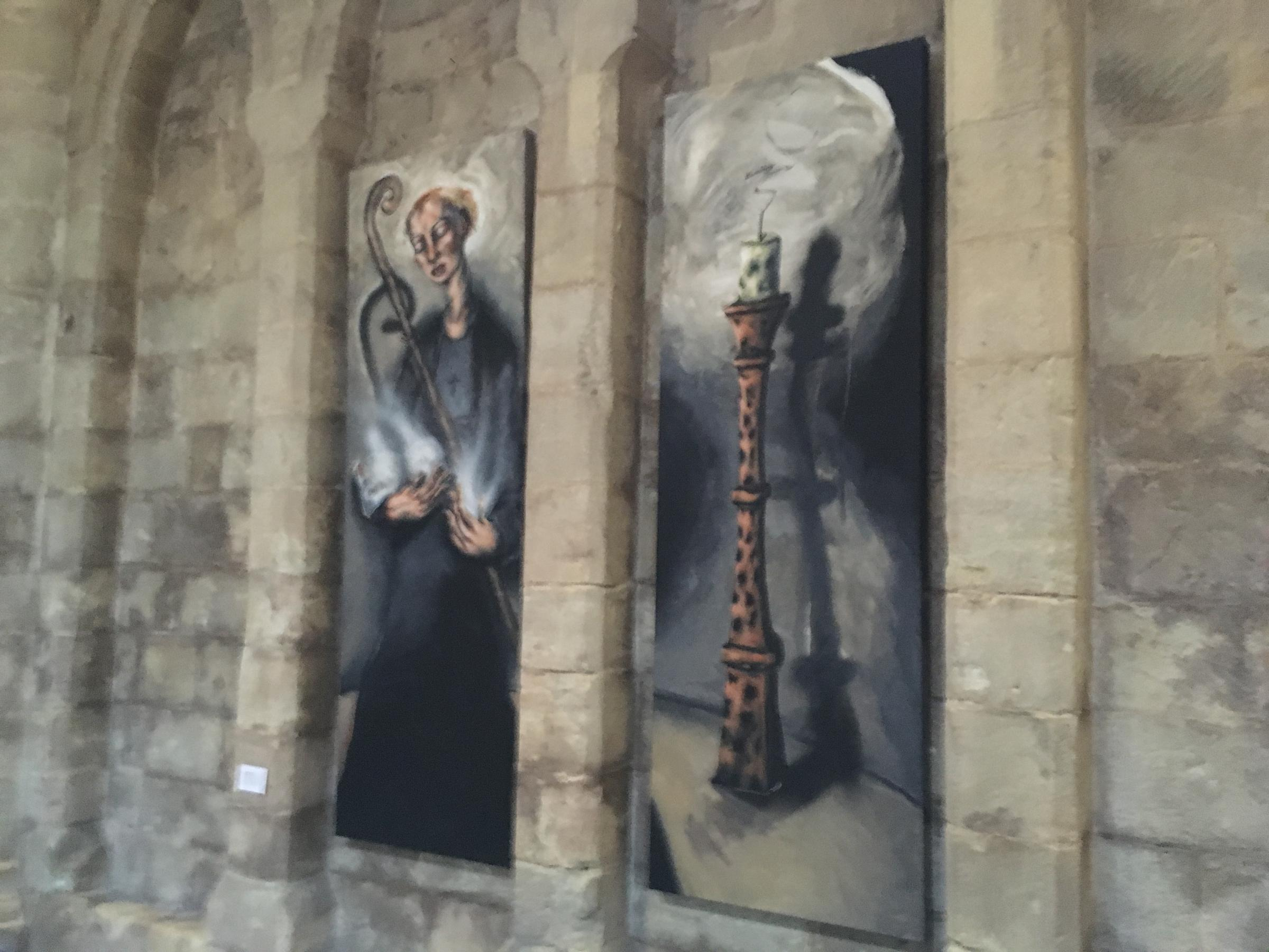 The painting of St Ethelflaeda in Romsey Abbey has been complained about by 15 members