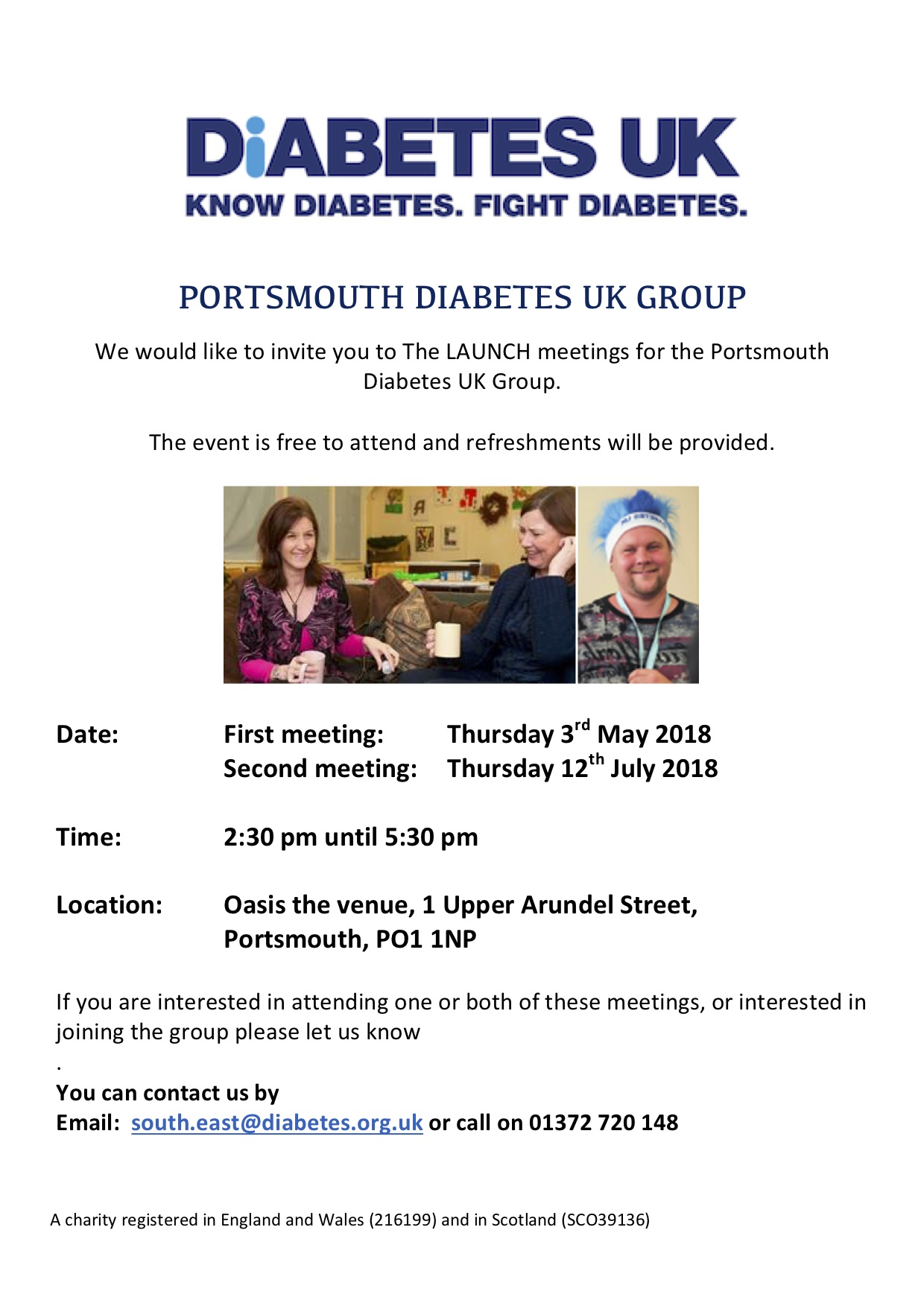 Launch Portsmouth Diabetes UK Group
