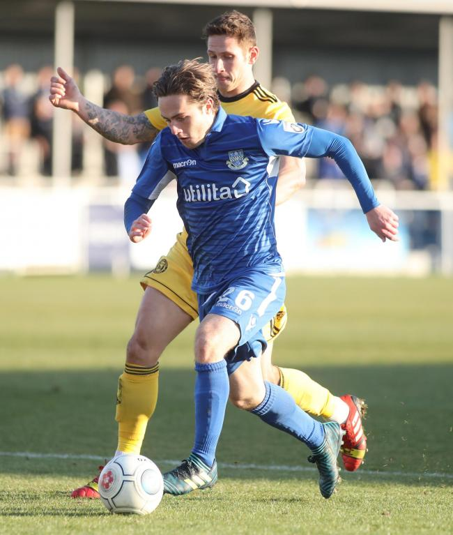 Sam Matthews in action for Eastleigh