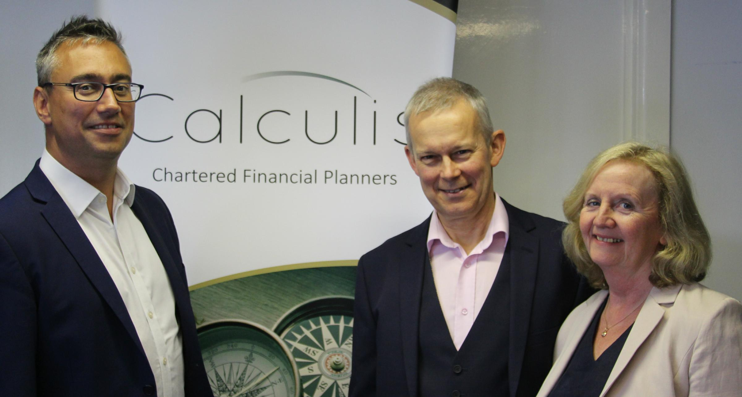 Stu and Miriam Marchant, festival directors of music, with Alex Pegley from Calculis Financial Planners
