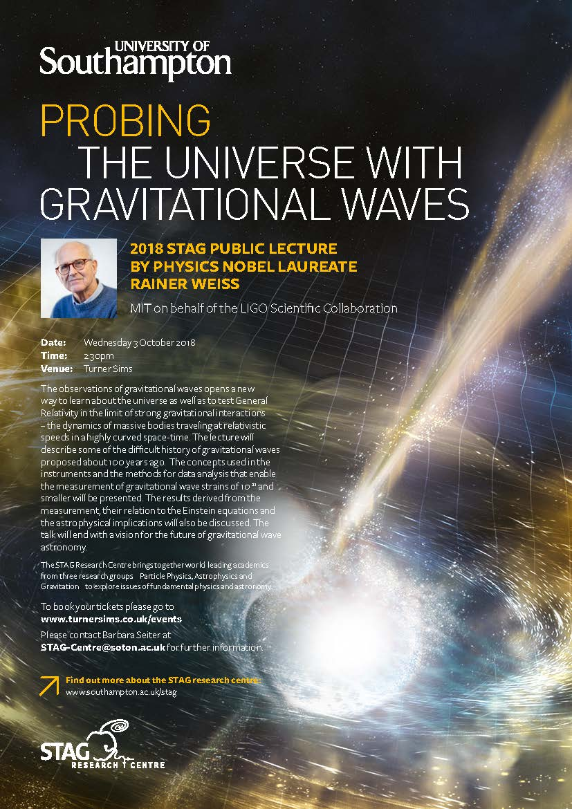2018 STAG PUBLIC LECTURE - Probing the universe with gravitaional waves