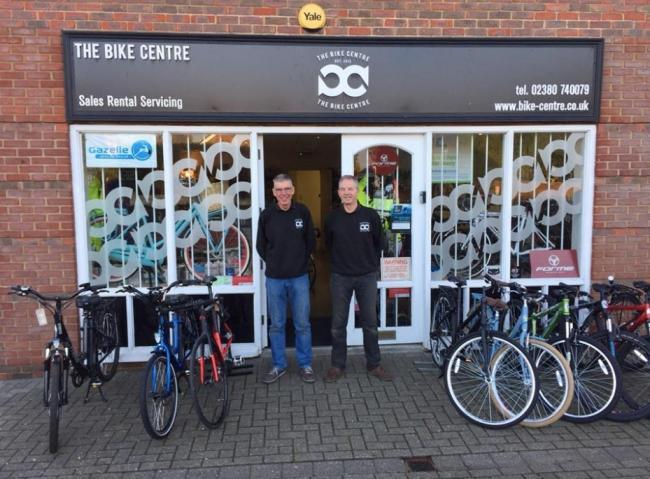Chris Bailey and Tony Edwards of The Bike Centre in North Baddesley, which will now close for good from August 14
