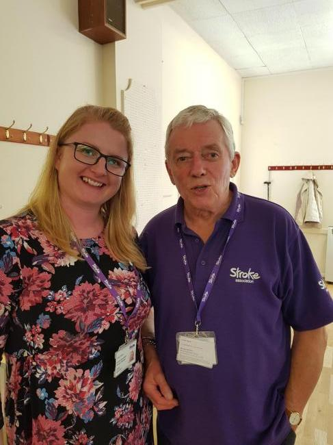 Carly Davey from Stroke Association and Harold.