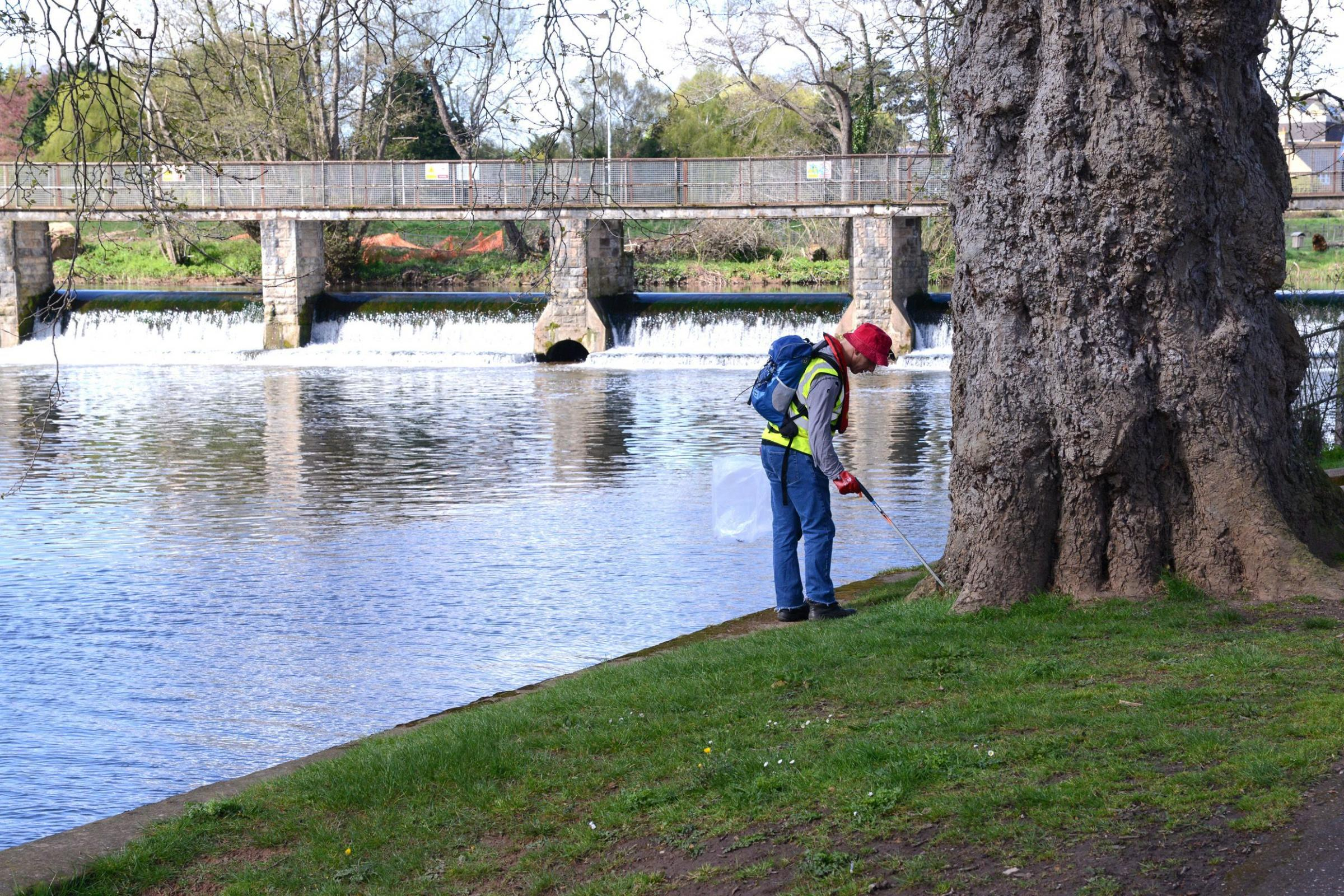 CLEAN SCENE: Getting to work in French Weir Park.
