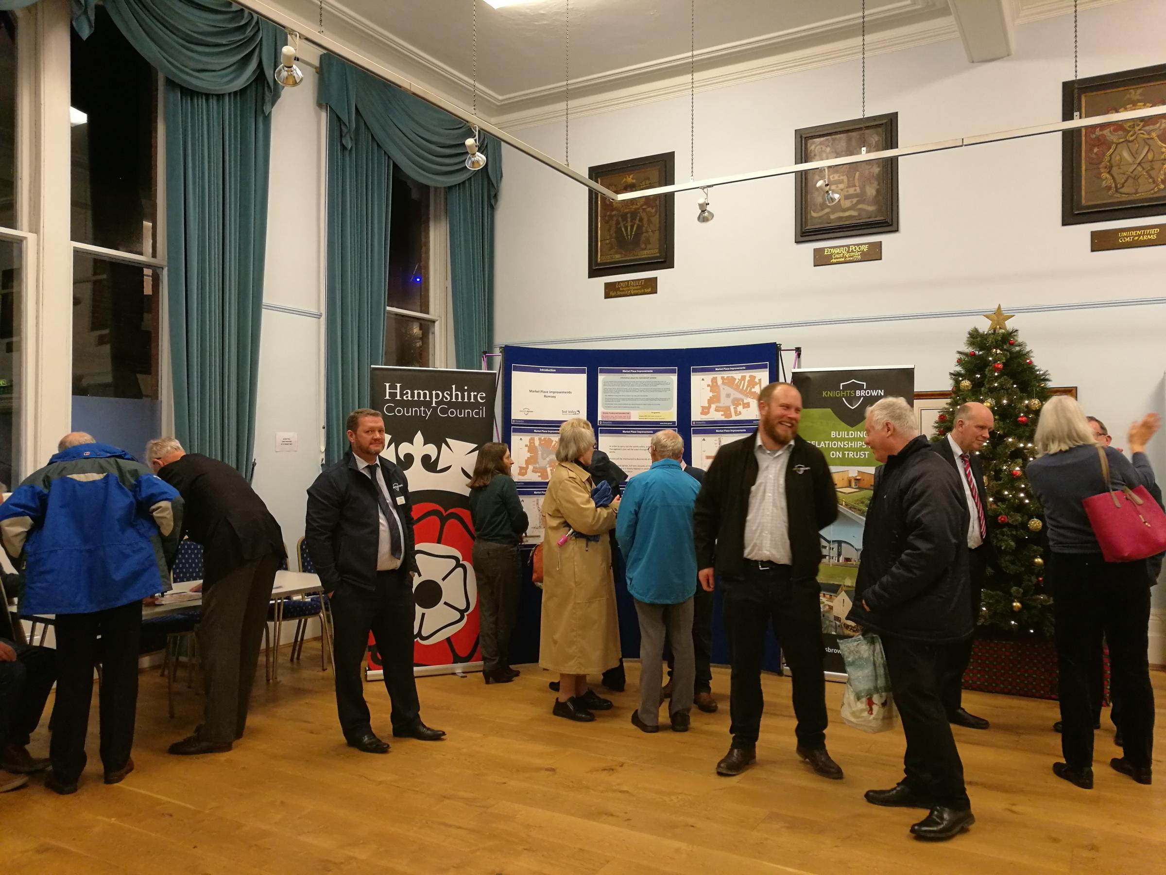 The public meeting at Romsey Town Hall on improvements to Market Place