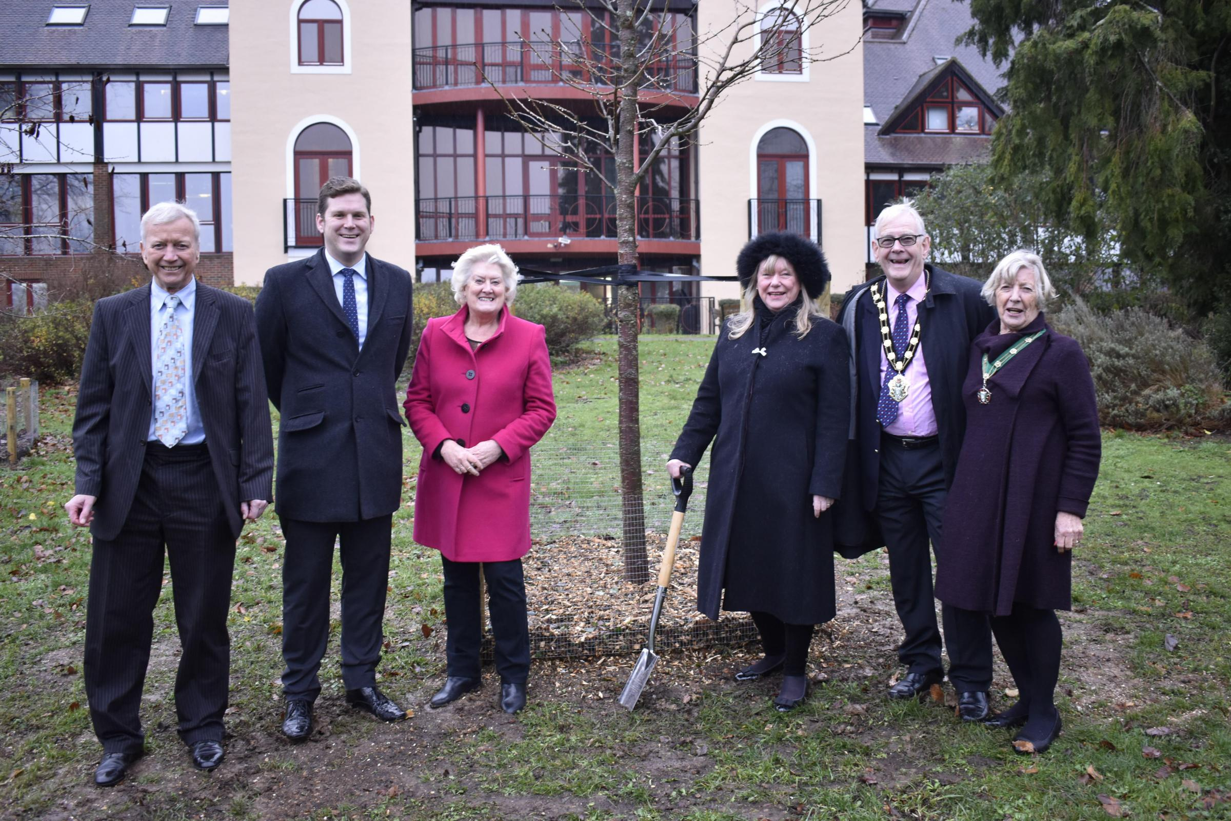 From left: Cllr Alan Dowden, leader Phil North, councillors Celia Dowden, Jan Lovell, Mayor of Test Valley, councillor Ian Carr and Mayoress.