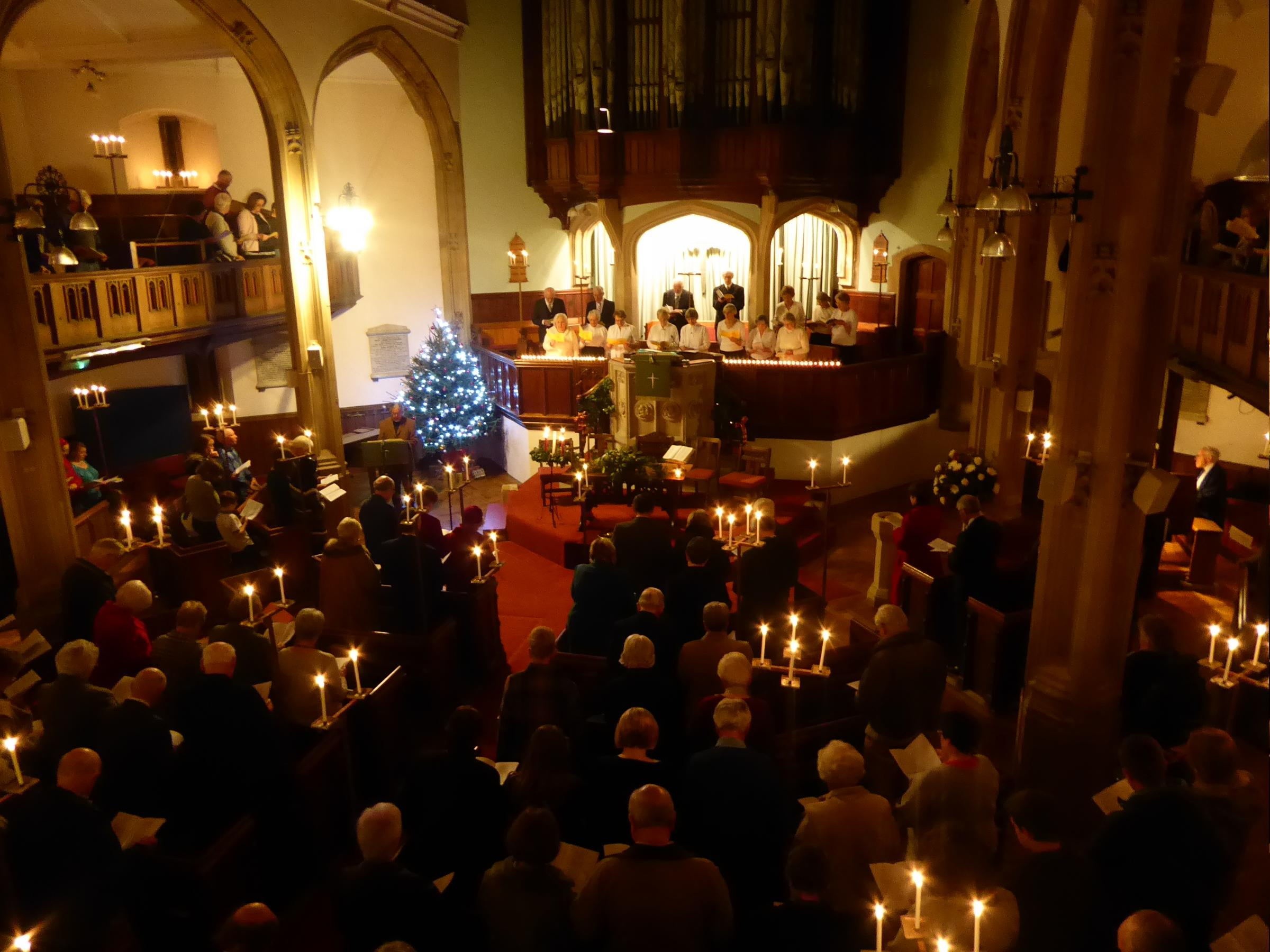Christmas service at at the Abbey United Reformed Church