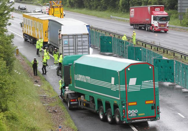 Lorry driver to be sentenced today over death of two in M3