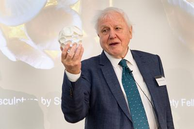 Sir David Attenborough at the KLB opening ceremony at UCL. Photos taken by Kirsten Holst.
