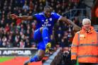 Sol Bamba vaulted the St Mary's hoardings after scoring Cardiff's first goal