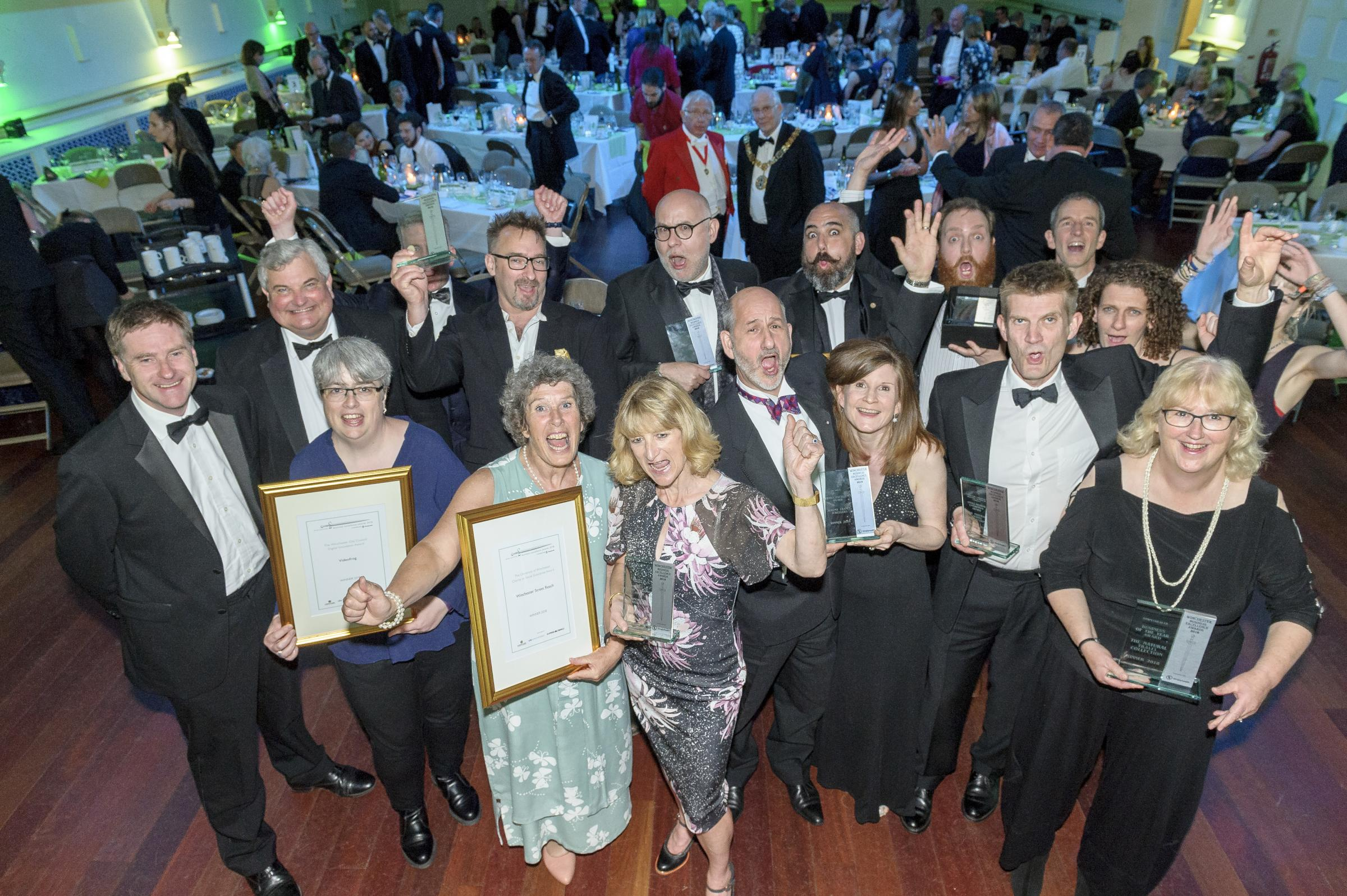 Winchester Business Excellence Awards winners at the 2018 awards ceremony.
