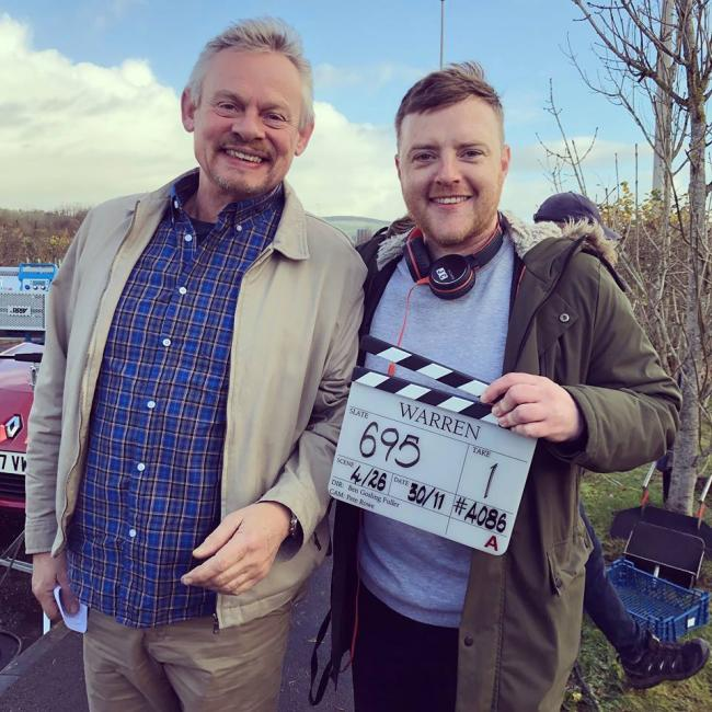 Martin Clunes stars in Jimmy's new sitcom, which debuts on BBC One next Monday