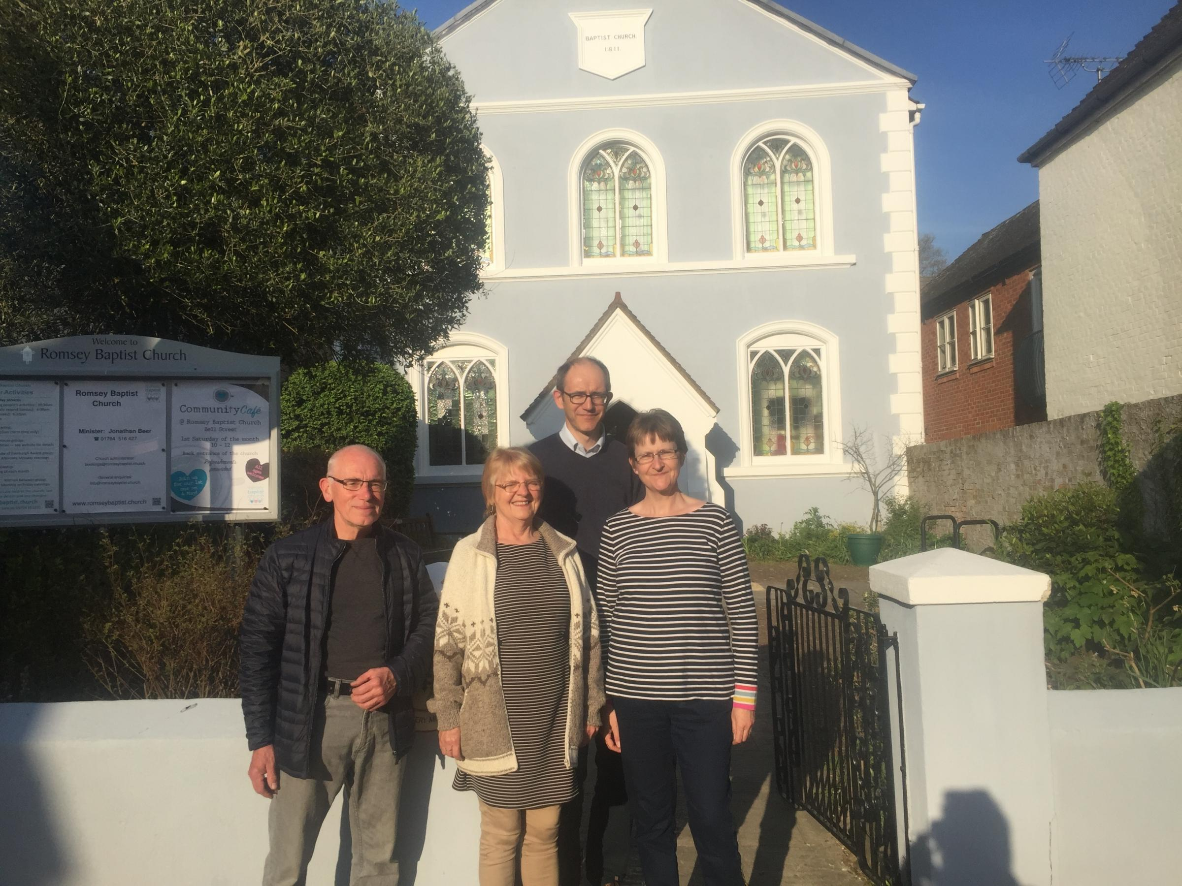 Bronwen Clemons with members of the mission team from Romsey Baptist Church