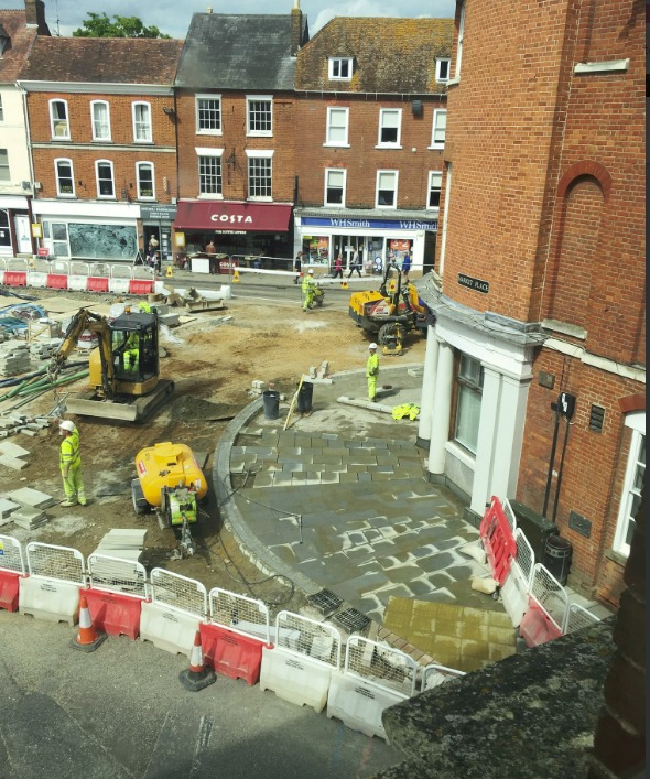 Work underway in the market town- cred - Romsey Town Council