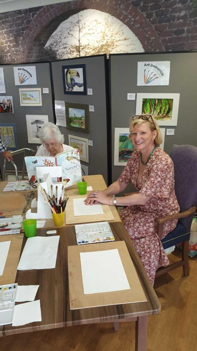 Art Festival for Dementia Action Week at Abbotswood Court Care Home