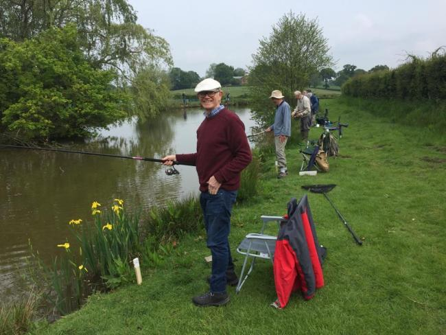 Members from Romsey Mens Shed go fishing