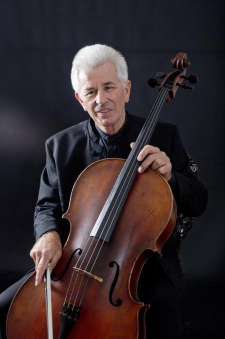 Musician Lionel Handy playing the Cello